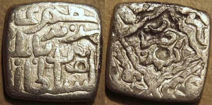 Ancient Coins - INDIA, KASHMIR SULTANS, Haidar Dughlat (1533) Silver sasnu in the name of Sa'id Khan of  Kashgar. RARE!