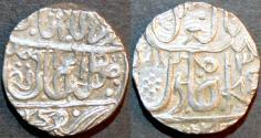 Ancient Coins - INDIA, MARATHAS, Jean-Baptiste Filose AR rupee ino Muhammad Akbar II, VERY RARE and CHOICE!