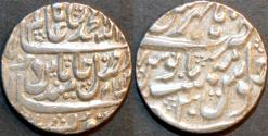 Ancient Coins - INDIA, MUGHAL, Shah Alam II (1759-1806) Silver rupee, issued by Madhoji Sindhia, Hathras, RY 30. SCARCE & CHOICE!