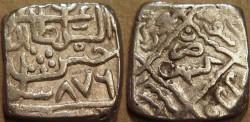 Ancient Coins - INDIA, KASHMIR SULTANS, Hasan Shah (1472-84) Silver sasnu, K31. SCARCE + CHOICE!