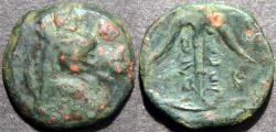 Ancient Coins - SELEUCID (SELEUKID) KINGDOM, Seleucos (Seleukos) I AE unit (chalkous), Uncertain mint in Bactria. EXTREMELY RARE!