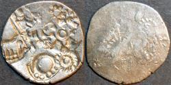 Ancient Coins - INDIA, MAGADHA: Series I AR punchmarked karshapana GH 242. RARE and CHOICE!