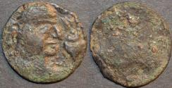 Ancient Coins - INDIA, ALCHON HUNS, Anonymous Silver drachm, Bust with trident-topped conch, Göbl 146. RARE!