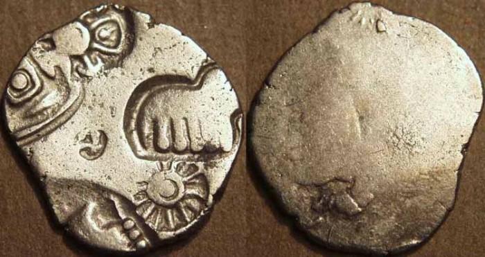 Ancient Coins - INDIA, MAGADHA: Series III punchmarked silver karshapana, GH 320. CHOICE!