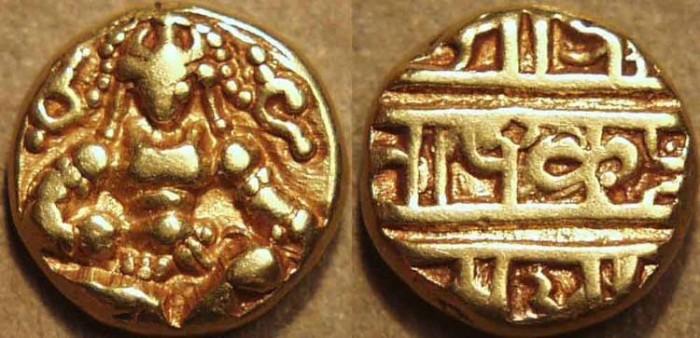 World Coins - INDIA, VIJAYANAGAR, Krishna Devaraya: Gold pagoda, Balakrishna type. SCARCE and SUPERB!