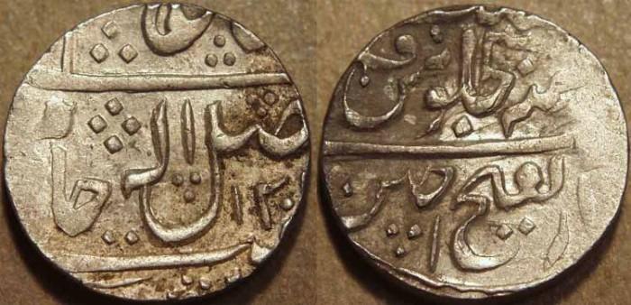 World Coins - INDIA, GWALIOR, Mahadji Rao (1761-94) Silver rupee in the name of Shah Alam II, Ujjain, AH 1201, RY 30.