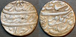 World Coins - INDIA, MUGHAL, Muhyi-ud-din Muhammad Aurangzeb 'Alamgir (1658-1707) AR rupee, Lahore, RY 28.