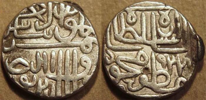 World Coins - INDIA, GUJARAT SULTANATE, Shams al-din Muzaffar II: Silver tanka, GG 262, AH 924, CHOICE!
