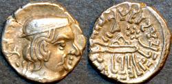 Ancient Coins - INDIA, INDIA, WESTERN KSHATRAPAS: Rudrasimha II (304-316 CE) Silver drachm, year S. 234