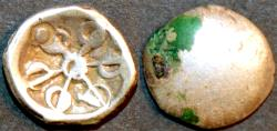 Ancient Coins - INDIA, GANDHARA janapada, Silver 1/8 satamana, Type 6, with countermark. CHOICE!