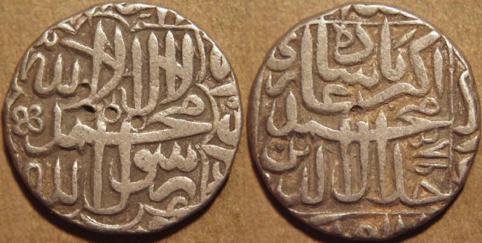 World Coins - INDIA,MUGHAL, Jalal-ud-din Muhammad Akbar (1556-1605) AR rupee, Agra, AH 985. CHOICE!