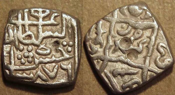 Ancient Coins - INDIA, KASHMIR SULTANS, Hasan Shah (1472-84) Silver sasnu. SCARCE + CHOICE!