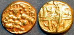 Ancient Coins - INDIA, NAYAKAS of CHITRADURGA (CHITALDURG): Anonymous Gold pagoda in the name of Krishna Devaraya
