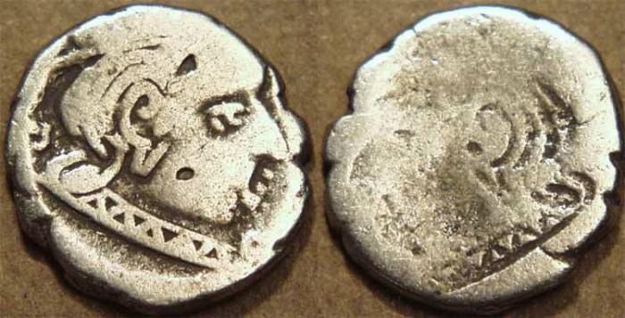 Ancient Coins - INDIA, WESTERN KSHATRAPAS: Brockage AR drachm, CHOICE!