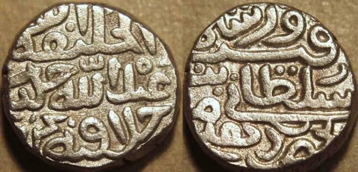 Ancient Coins - INDIA, DELHI SULTANATE, TUGHLUQ: Firuz Shah Tughluq (1351-88) Silver tanka, Hadrat Dehli. SUPERB!
