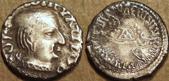 Ancient Coins - INDIA, WESTERN KSHATRAPAS: Vijayasena (239-250 CE) Silver drachm, as Mahakshatrapa, year S. 161