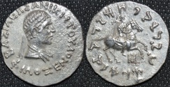 Ancient Coins - INDO-GREEK: Philoxenos AR tetradrachm, bare-headed type, RARE and SUPERB!