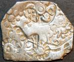Ancient Coins - INDIA, MAGADHA: Series I AR punchmarked karshapana GH 194. RARE and CHOICE!