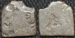 Ancient Coins - INDIA, MAURYA: Series VIb Silver punchmarked karshapana, GH 574.