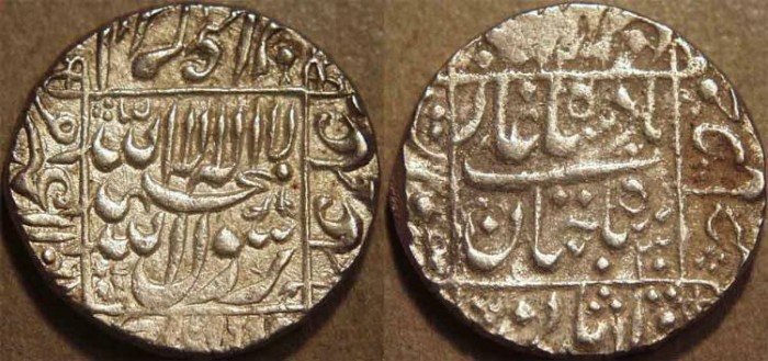 Ancient Coins - INDIA, MUGHAL, Shah Jahan (1628-58) AR rupee, Surat, AH 1066, RY 30. CHOICE!