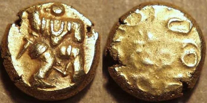 Ancient Coins - Vijayanagar: Hari Hara I AV pagoda or gadyana. RARE!