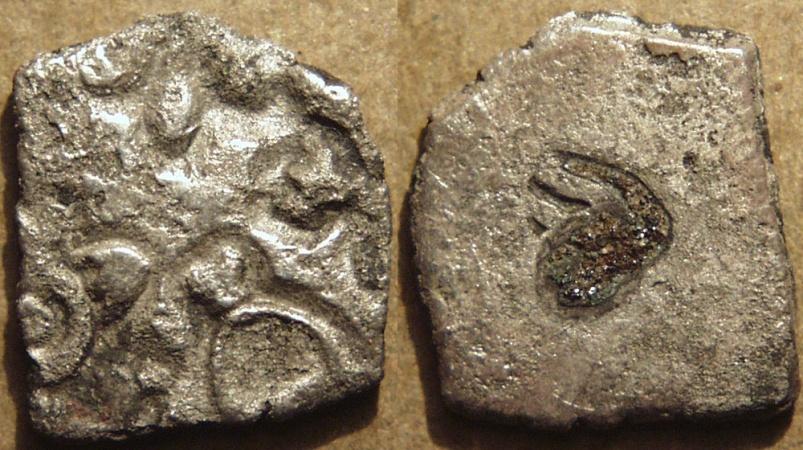 India Sangam Age Pandya Silver Punchmarked Half