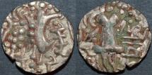 INDIA, KIDARITES of PUNJAB, Vigrahatunga (Vigrahadeva) base Gold dinar. SCARCE!