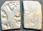 Ancient Coins - INDIA, MAURYA: Series VIb Silver punchmarked karshapana, GH 543. CHOICE!