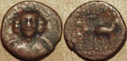 Ancient Coins - PARTHIA, PHRAATES III (70-57 BCE) (DARIUS?) AE dichalkon, Rhagae, Sell 35.15 var. UNLISTED DENOMINATION, RARE!