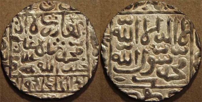 World Coins - INDIA, BENGAL SULTANATE, Ghiyath al-Din Bahadur (1555-60) Silver rupee, mintless, AH 965, B967. SUPERB!