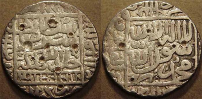 World Coins - INDIA, DELHI SULTANATE, Sher Shah Suri (1538-45) Silver rupee of Gwaliar, AH 951