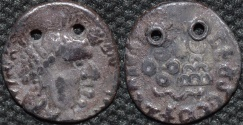 Ancient Coins - INDIA, Satavahanas: Vasithiputra Sri Satakarni AR drachm. VERY RARE!