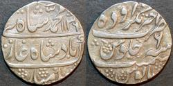 Ancient Coins - INDIA, MUGHAL, Muhammad Shah (1719-48): Silver rupee, Akhtarnagar Awadh, AH 1136, RY 6, CHOICE!