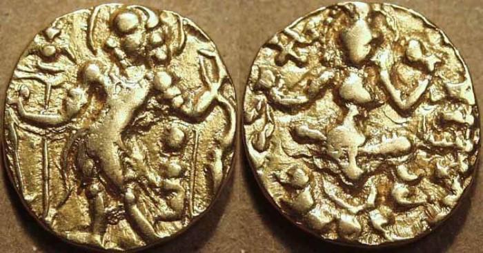 Ancient Coins - INDIA, Gupta: Chandragupta II Gold dinar, Archer type