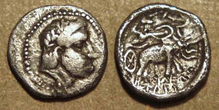 Ancient Coins - SELEUCID KINGDOM, Seleucos I AR obol, Seleucia or Susa. RARE!