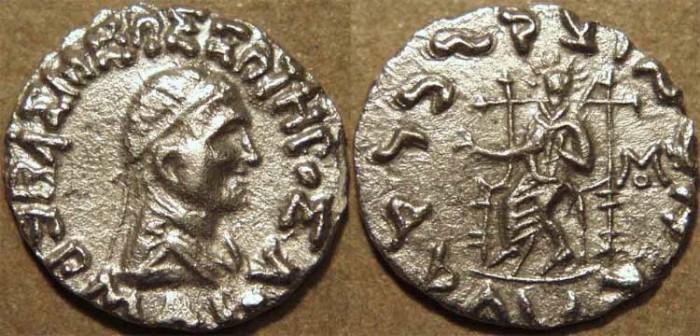 Ancient Coins - INDO-GREEK: Hermaios AR drachm. SCARCE and SUPERB!