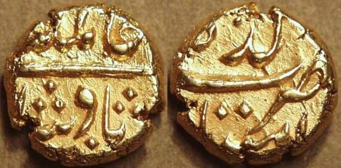Ancient Coins - INDIA, MUGHAL: Alamgir II (1754-1759) Gold pagoda, Imtiazgadh, no date