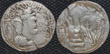INDIA, ALCHON HUNS, Mihirakula Silver drachm. SCARCE and CHOICE!