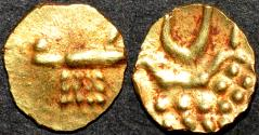 """Ancient Coins - INDIA, RAJAHS of COCHIN: Anonymous Gold """"Vira Raya"""" fanam. Later type. CHOICE!"""