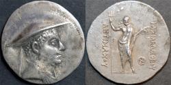 Ancient Coins - BACTRIA (BAKTRIA), Antimachus I (Antimachos): Silver tetradrachm. SCARCE and BARGAIN-PRICED!