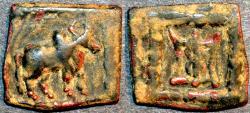 Ancient Coins - INDO-GREEK: Apollodotus II AE chalkous. CHOICE!