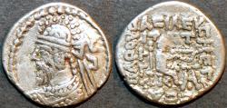 Ancient Coins - INDO-PARTHIAN: Sanabares, king in Seistan, AR drachm. CHOICE!