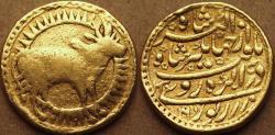 Ancient Coins - INDIA, MUGHAL, Jahangir AV Zodiac mohur, of Taurus, Agra, 1030/16, GREAT RARITY!