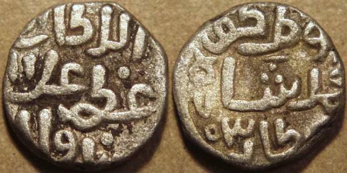 Ancient Coins - INDIA, DELHI SULTANATE, 'Ala' al-din Muhammad Khalji (1296-1316) Billon 6-gani, dated AH 703