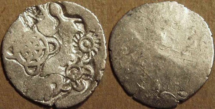 Ancient Coins - INDIA, MAGADHA: Series I AR punchmarked karshapana GH 251. CHOICE!