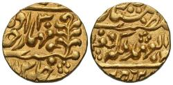 Ancient Coins - INDIA, JAIPUR: Madho Singh II (1880-1922) in the name of Queen Victoria, Gold mohur, RY 30. UNLISTED DATE & SUPERB!