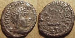 Ancient Coins - INDIA, Satavahanas: Siva Sri Pulumavi AR drachm. VERY RARE and CHOICE!