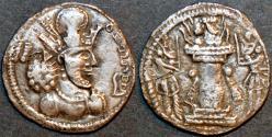 Ancient Coins - SASANIAN: Shapur II Silver drachm of Sakastan, SCARCE and CHOICE!