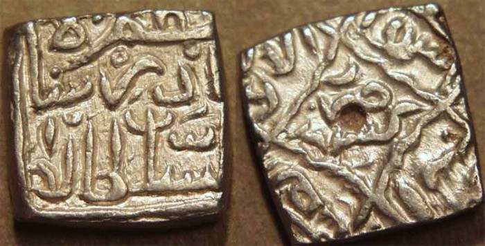 World Coins - INDIA, KASHMIR SULTANS, Nazuk (Nadir) Shah (1540-1546) Silver sasnu, K100. RARE + CHOICE!