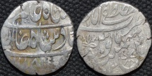 Ancient Coins - ROHILLAS: Faizullah Khan Silver rupee in name of Shah Alam II, Mustafabad, AH 1185. UNPUBLISHED and CHOICE!